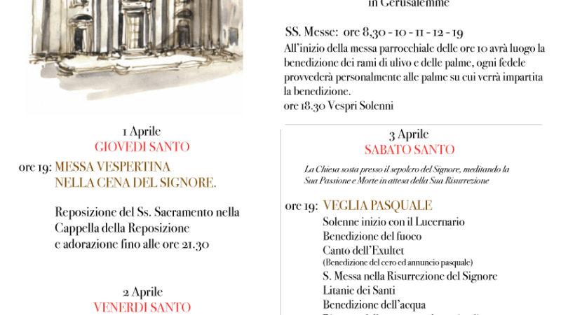 Settimana Santa 2021 – Calendario delle Celebrazioni